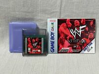 WWF Attitude Nintendo Gameboy Color Game Cartridge Manual Authentic & Working