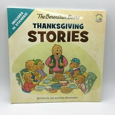 Berenstain Mike-Berenstain Bears Thanksgiving Stories Includes 16 Stickers New