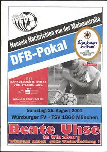 DFB-Pokal 2000/2001 Würzburger FV - TSV 1860 München, 25.08.2001