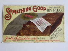 """Victorian Trade Card,  Tobacco, """"Something Good"""", Jas G. Butler Tobacco Co."""