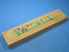 Vintage W. Germany Litho ANCHOR-BOX Wood School Pencil Box w/Original Pencils