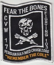 """VF-103 FEAR THE BONES """"REMEMBER THE COLE"""" 2000 CRUISE PATCH"""