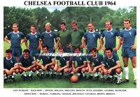 CHELSEA F.C.TEAM PRINT 1964 (VENABLES/BRIDGES/HOLLINS)