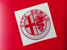 1 Adesivo Resinato Sticker 3D Alfa Romeo 50 mm white & red