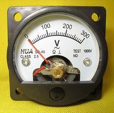 Volt Meter 300V AC Analog Round Gauge Voltage Panel 240V Generator Inverter SO45