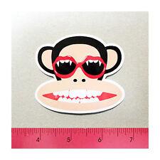 Skateboard Window Bumper Phone Vinyl Decal Sticker - Fang Teeth Glasses Monkey