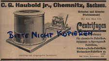 Chemnitz, Pubblicità visualizzazione/1902, sig Haubold Jr. centrifugen tutti i sistemi