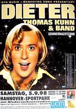 """DIETER THOMAS KUHN TOUR POSTER / KONZERTPLAKAT """"SOMMERNACHTSTOUR"""""""