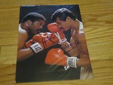 Boxing HOFers AARON PRYOR and ALEXIS ARGUELLO signed 8x11 Magazine Photo COA