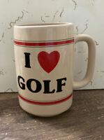 "Vintage ""I ❤️ Golf"" Coffee Mug By Russ Berrie & Co."
