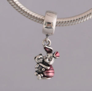 925 Sterling Silver Winnie the Pooh Piglet Dangle Charm