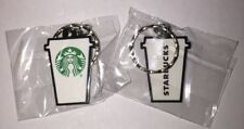 Starbucks New Logo To Go Cup Rubber Key Chain Keychain