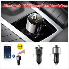 Wireless In-Car Bluetooth Kit FM Transmitters Radio Adapter Hands-Free MP3 USB