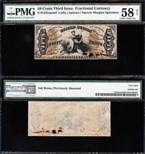 """Awesome Rare """"Specimen"""" Justice 3rd Issue 50 cent Fractional! Pmg 58/n! Tc32"""