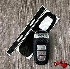 Clave de fibra de carbono negra envoltura para Audi A1 Control Remoto Inteligente A3 A4 A5 A6 A8 TT Q3 5 Q7