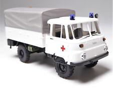 H0 BUSCH Robur LO 2002 A Pritsche Plane Rotes Kreuz Blaulicht Gelblicht # 50232