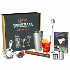 Home Cocktail Set with Cocktail Recipe Book & Bar Tools