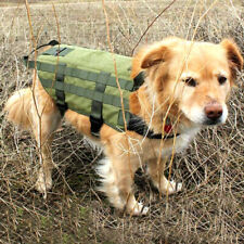 Adjustable Molle Dog Coat Tactical K9 Training Harness Backpack with Two Handles