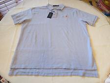 Polo Ralph Lauren Mens short sleeve shirt XXL lt Blue w/ orange logo 735064