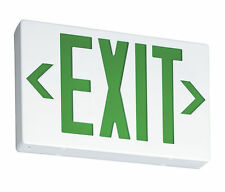 Lithonia Lighting Single / Double Side Green Led Emergency Exit Sign (Msrp $95)