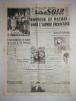 N1211 La Une Du Journal Libération 3 avril 1945 l'armée Française