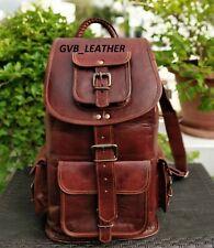 Genuine DayPack Leather Back Pack Rucksack Travel Bag For Men's and Women's
