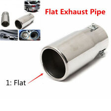 Silver Chrome Car Truck Tail Throat Pipe Exhaust Pipe Trim Tips Muffler Pipe Tip