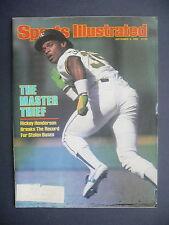 Sports Illustrated September 6, 1982 Rickey Henderson Oakland LA Raiders Sep '82