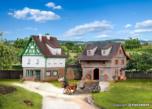 Vollmer Z 49540 - Farmouse With Barn And Yard Gate Kit New
