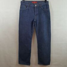 French Connection Mens Jeans Blue W32 Pure Cotton Denim Straight Leg Button Fly