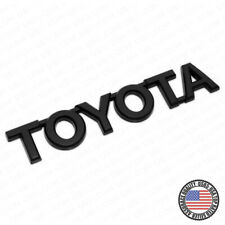 For Toyota Matte Black Letter Trunk Lid Liftgate Tailgate Emblem Badge Logo