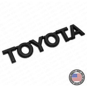 For Toyota Matte Black Letter Trunk Lid Liftgate Tailgate Emblem Badge Logo
