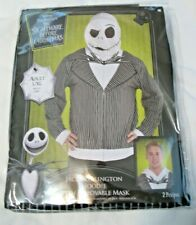 Jack Skellington Hoodie with Removable Mask Halloween Costume  Adult L/XL