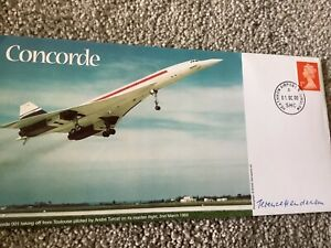 CONCORDE BRITISH AIRWAYS FLIGHT SIGNED COVER BY CAPTAIN  TERRY HENDERSON 1/5