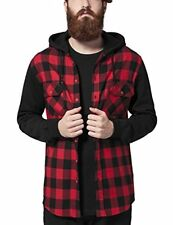 Mehrfarbig XL Urban Classics Hooded Checked Flanell Sweat Sleeve Shirt (dvh)
