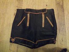 Culotte de peau Autrichienne - Cuir - Tour de taille 64 cm Bavaroise Edelweiss