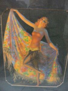 1931Carlotta by EDWARD EGGLESTON ~24X20 Matted and Framed