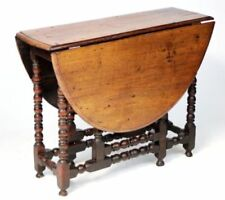 Tables 1800-1899 Late Victorian Fruit Wood Carved Bobbin Turned Leg Cricket Table Selected Material
