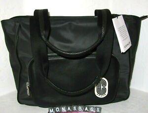 Coach C5049 Nylon & Pebble Leather Court Large Tote Black Travel Bag NWT $350