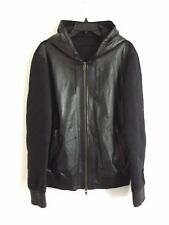 GIVENCHY Butter Soft Leather Quilted Hooded Jacket IT 52 - XL Fits L RRP £2100