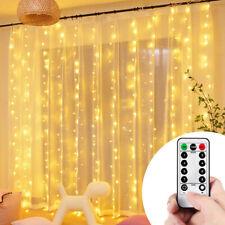 LED Fairy Curtain Lights 3x3M 300Leds White/Warm White String Lights Home Decor