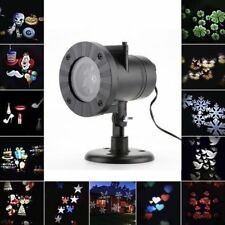 Led Christmas Lights Snowflake Projection 12 Pattern Outdoor Waterproof Lamp