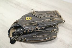 Wilson RHT 13.5 Black Leather Baseball Mitt / Glove Pre-Owned Needs Re-Laced
