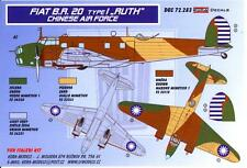 """KORA Decals 1/72 FIAT BR.20 TYPE 1 """"RUTH"""" Bomber Chinese Air Force"""