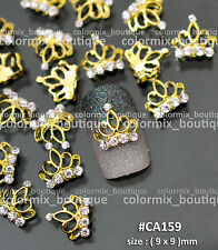 10pcs Gorgeous Design Nail Art Decorations Shiny Gold Crown Alloy Jewelry #CA159