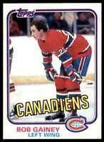 1981-82 TOPPS HOCKEY BOB GAINEY MONTREAL CANADIENS #13