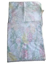 New listing Two Vintage Martex King Pillowcases Floral Multicolor Floral Lace Scallop Edge