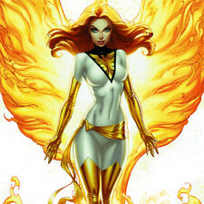 JEAN GREY Signed ART PRINT Variant Cover #1 J SCOTT CAMPBELL Phoenix X-MEN New
