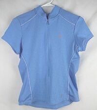 Pearl Izumi Women s Size M 3 Pocket Short Sleeve Blue Cycling Top Texturized 1b4bf2379