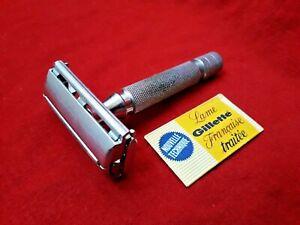 Gillette Rocket Monobloc France - Double Edge vintage - Rasoir de sûreté ancien